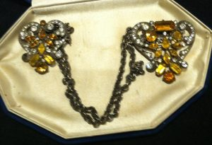 Eisenberg marked chatelaine pin clips possibly made by Ralph Singer Co. - photo courtesy of Susan Klein Bagdade
