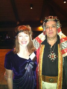 Kathryn Drury Wagner with Ron Uchal at the Razzle Dazzle 'Em Prohibition Party at CJCI Convention 2014 (Photo Courtesy of Kathryn Drury Wagner)