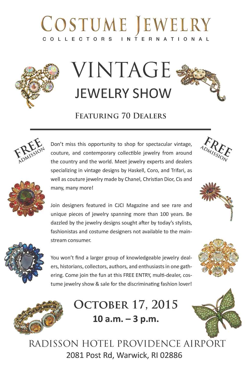 CJCI Saturday Show & Sale Oct. 17